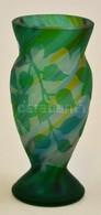 Gallé Jelzéssel: Kis Váza, Savmaratott, Hibátlan, M:13 Cm - Verre & Cristal