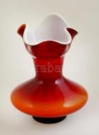 Dekoratív Váza, Több Rétegű, Jelzés Nélkül, Hibátlan, M: 16 Cm - Verre & Cristal
