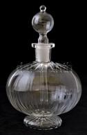 Parfümös üveg, Formába öntött, Hibátlan, M: 18 Cm - Verre & Cristal