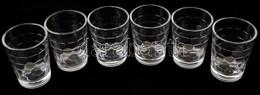 Üveg Borospoharak, 1 Dl-es, Hibátlanok, 6 Db - Verre & Cristal