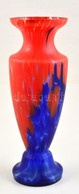 Muranoi Fújt Váza, Több Rétegű, Jelzés Nélkül, Apró Csorbával, M: 31,5 Cm - Verre & Cristal