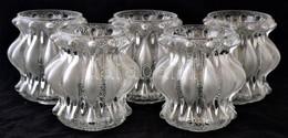 5 Db Dekoratív üveg Lámpabúra, Némelyik Apró Csorbákkal, Különböző Méretben - Verre & Cristal