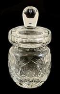 Ólomkristály Bonbonier, Csiszolt, Metszet, Hibátlan, M: 15 Cm - Verre & Cristal