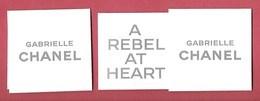 F - Sticker Chanel  Dans Un étui - Gabrielle -perfume Card - USL - Perfume Cards