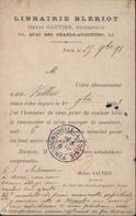 CP Privée Repiquage Librairie Blériot Sage 10c N/V Noir S Lilas CAD Paris 25bd St Germain 24 11 93 Pour Port Havannah - Marcophilie (Lettres)