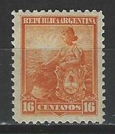 Argentina Mi 110, Sc 133  * MH - Argentina