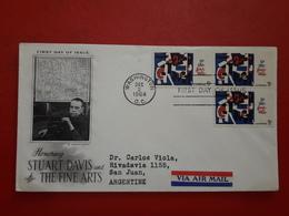 Des USA FDc Un Art Un Hommage Stuart Davis And The Décède Arts - First Day Covers (FDCs)