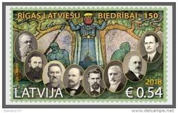 Latvia 2018 Riga Latvian Society-  Stamp MNH - Latvia