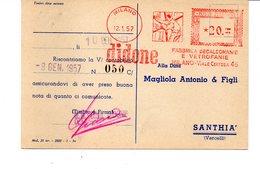 1957 Affrancatura Meccanica Rossa EMA Freistempel Milano DIDONE Fabbrica Decalcomanie E Vetrofanie Operaio - Affrancature Meccaniche Rosse (EMA)