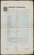 1905 Dr. Elek Oszkár (1880-1945) Irodalomtörténész Aláírása Egy Egri Reáliskolai Bizonyítványon, 30 F Okmánybélyeggel - Other Collections