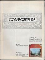 Compositeurs C. Nyomtatvány, Borító Nélkül, Benne 16 Db Többségében Zenészek, éenekesek, Karmesterek Aláírásával, Közte  - Other Collections