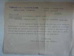 """Lettera """"REGIA AERONAUTICA  INTENDENZA 3° SQUADRA AEREA Rimpratrio Sottotenente"""" Anni '40 - Documenti Storici"""