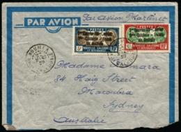"""NOUVELLE-CALEDONIE - N°155A Et 159 Surch. """"1er Courrier 100% Aérien/Nlle Calédonie-France Via Australia"""" S/pli De NOUMEA - Briefe U. Dokumente"""