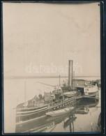DDSG Lapátkerekes Vontató Gőzhajó, Fotó, Hátulján Feliratozva, 11,5×9 Cm - Autres Collections
