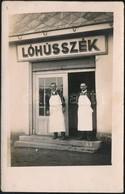 Cca 1920-1930 Lóhússzék, Bejárat, Fotólap, 13,5×8,5 Cm - Autres Collections
