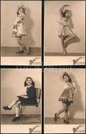 Cca 1940 A Mosoly Albuma, Egy Kislány Fotói, 6 Db, 13×8 Cm - Autres Collections