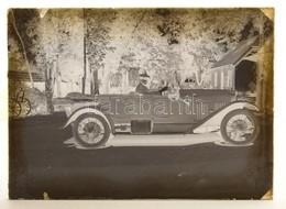 Cca 1920 Automobil, Vintage üveglemez Negatívon, 12x16 Cm - Autres Collections