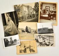Cca 1900 -1930 8 Db Vegyes érdekes Fotó, Benne Több, Nevesített Magyar Városkép Is. - Autres Collections