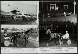 1983 Ügetői életképek, 2 Db Feliratozott Fotó, 18×13 Cm - Autres Collections