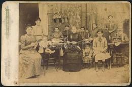 Cca 1900 Varrodai Alkalmazottak, Keményhátú Fotó Tannenbaum Műterméből, 16×11,5 Cm - Autres Collections