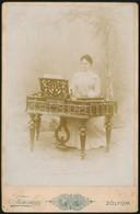 Cca 1900 Zólyom, Cimbalmos Fotója / Zolyom Dulcimer Player. 17x11 Cm - Autres Collections