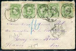 BELGIQUE - N° 30 (5) / LETTRE DE BOUSSU LE 11/3/1876 POUR BOURG - TB - 1869-1883 Leopold II