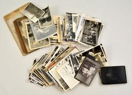 Cca 1900-1950 Vegyes Fotó Tétel, Különféle érdekes Darabok, Közte Keményhátú Is, Különböző Méretben - Autres Collections