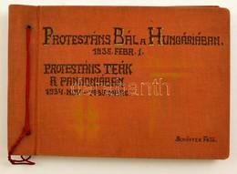 1934 és 1935 Budapest, Hungária Szálló, Protestáns Bál, Schäffer Fényképész 33 Db Vintage Fotója, Albumba Ragasztva, A P - Autres Collections