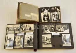 Cca 1935-1956 2 Db Fotóalbum Családi Fényképekkel, Nagyrészt Feliratozva - Autres Collections