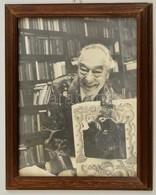 Cca 1960 Azonosítatlan Színész Portréja, Nagyméretű Fotó, üvegezett Fa Keretben, 28,5×21,5 Cm - Autres Collections
