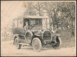 Régi Fiat Automobil, Nagyméretű Fotó, Kissé Foltos, Töréssel, 18×24 Cm - Autres Collections