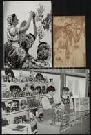 Népviseletben, 6 Db Fotó Különböző Időszakokból, 13,5×8,5 és 17,5×23,5 Cm Közötti Méretekben - Autres Collections