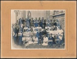 1926 Budafok, Egyházi Iskolások Csoportképe, Pátkay Gyula Fényképész, Kartonra Kasírozva, 12x17 Cm - Autres Collections