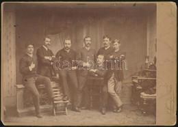 1888 Eger, Műtermi Csoportkép, Perlgrund és Tsa Egri Műterméből, A Hátlapon Szereplő évszámok Vélhetően Osztály Találkoz - Autres Collections