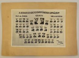 1948 A Budapesti Kegyestanítórendi Gimnázium Tanárai és Végzett Növendékei, Kistabló, Nevesített Portrékkal, 16x23 Cm, K - Autres Collections