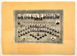 1949 Nagykőrösi Áll. Liceum érettségizett Növendékei és Tanáraik, Kistabló, Nevesített Portrékkal, 20x28,5 Cm, Karton 30 - Autres Collections