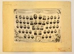 Cca 1947 Orosházi Evangélikus Gimnázium Tanárai és Végzett Növendékei, Kistabló, Nevesített Portrékkal, 16x22,5 Cm, Kart - Autres Collections