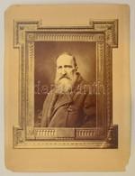 1883 M.M. Jelzésű Férfiportré, 19x14 Cm, Karton (sérült) 37,5x28,5 Cm - Autres Collections