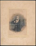 Cca 1899 Platonotypia Plohn József Hódmezővásárhelyi Műterméből, 14x10 Cm, Karton 25x20 Cm - Autres Collections