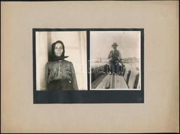 Cca 1900-1910 Tiszai Halász és A Felesége, A Háttérben A Szegedi Híd, 2 Db Fotó, Albumlapra Felragasztva, Fotóméret 9x8  - Autres Collections