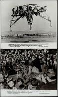 Cca 1980 5 Db űrhajózással Kapcsolatos MTI Fotó 25x21 Cm - Autres Collections