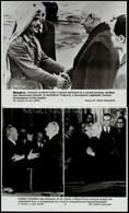 Cca 1980 10 Db Külpolitikával Kapcsolatos MTI Fotó 25x21 Cm - Autres Collections