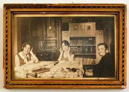 Rádióamatőrök, Fotó üvegezett Keretben, 5×24 Cm - Autres Collections