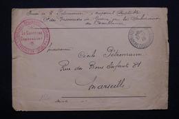 MAROC - Enveloppe En FM Du Camp De Prisonniers De Guerre à Casablanca Pour Marseille En 1915 - L 21282 - Maroc (1891-1956)