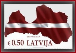 Latvia 2018 Mih. 1042 Map And Flag Of Latvia MNH - Latvia