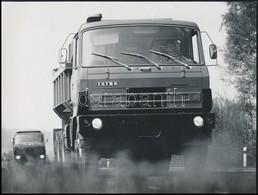 Tátra Teherautók, 3 Db Fotó, 18×23,5 Cm - Autres Collections