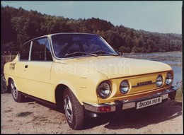 Cca 1970-1980 Škoda 110 R Típusú Autó, Fotó, 17,5×24 Cm - Autres Collections