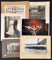 Cca 1920-1930 Vegyes Fotó Tétel: Tablóképek, Csoportképek, Portrék, Stb., érdekes Anyag, Különböző Méretben - Autres Collections