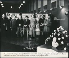 Cca 1960-1980 Életképek A Szovjet-magyar Barátság Történetéből, 4 Db Sajtófotó, Feliratozva, 20,5×24 Cm - Autres Collections