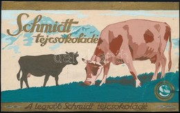 Cca 1930 Schmidt Tejcsokoládé Reklámterv, Vegyes Technika, Papír, Jelzés Nélkül, Kis Gyűrődéssel, 10x16 Cm - Publicités